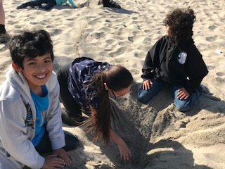 Freedom students at beach